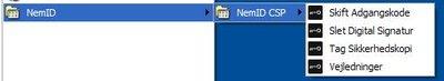 NemID CSP menu
