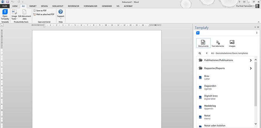 Microsoft Office Skabeloner